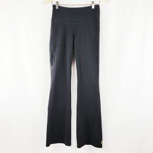 Lucy yoga pants wide waistband flare M